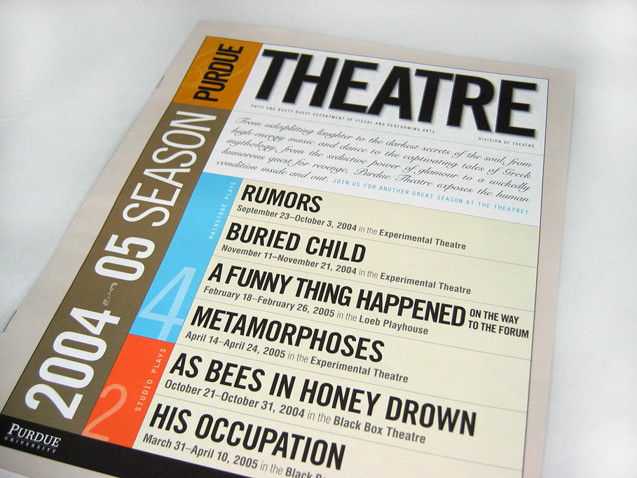 Purdue Theatre 2004-05 Season Brochure