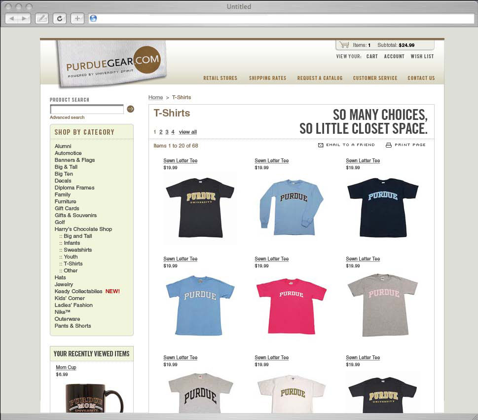 PurdueGear​.com Website Redesign