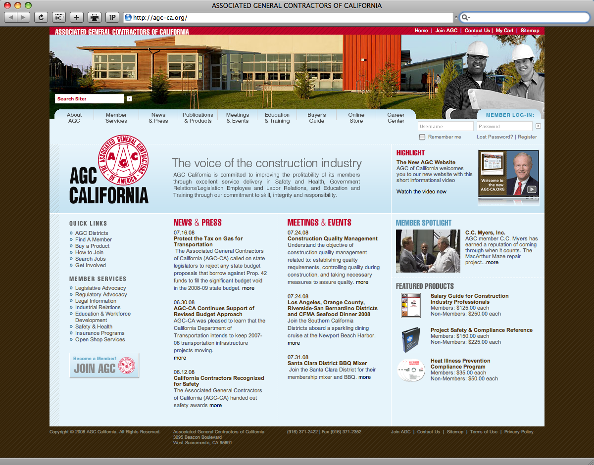 AGC California Website Redesign