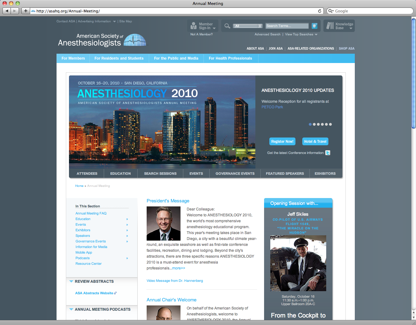 American Society of Anesthesiologists Website Redesign