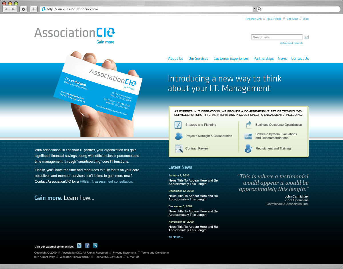 AssociationCIO Website Design