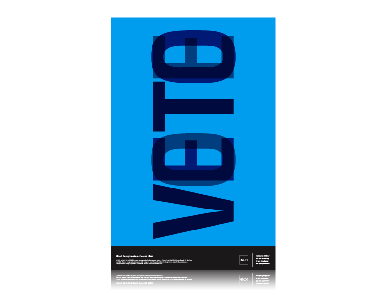 "AIGA Design for Democracy ""Get Out The Vote"" Poster"