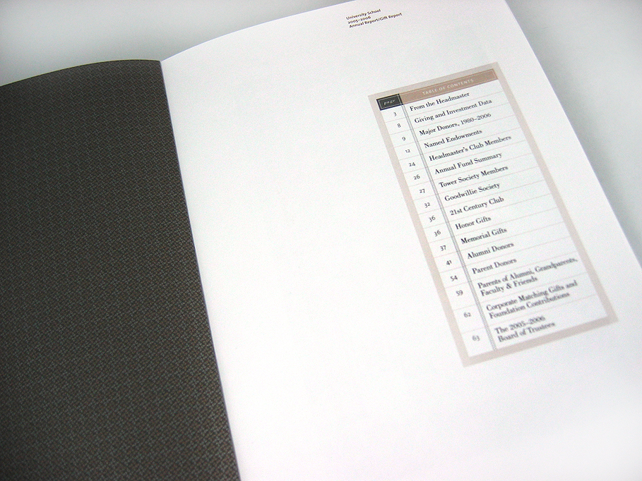 University School 2005-06 Annual Report
