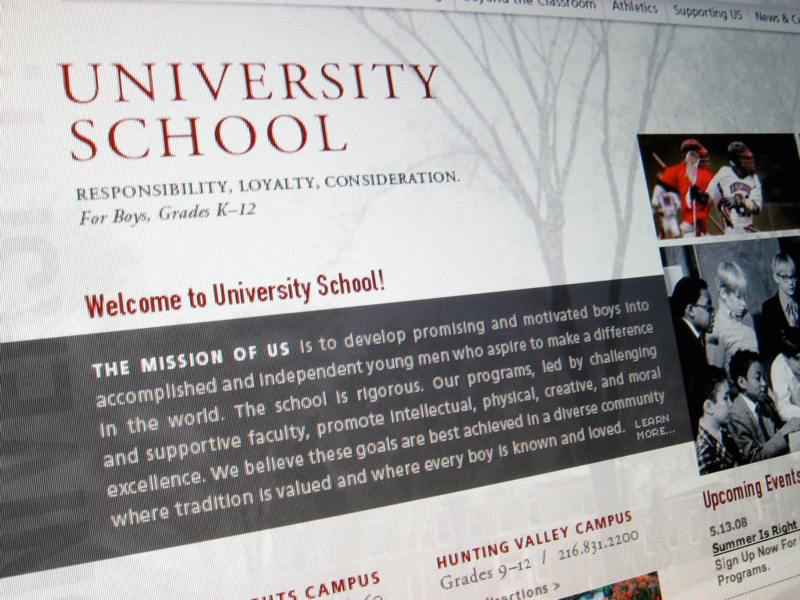 University School Website Redesign