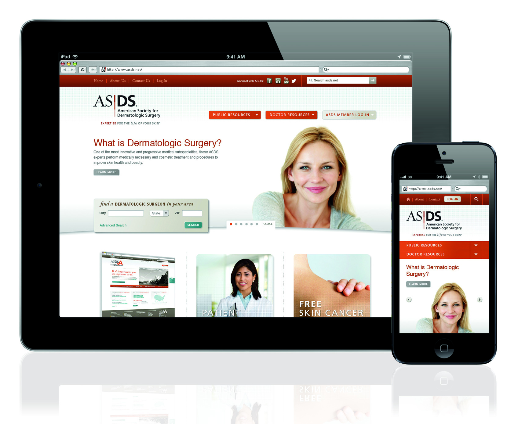 American Society for Dermatologic Surgery Website Refresh